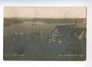 233158 NORWAY BERGEN old photo RPPC censorship stamp to RUSSIA