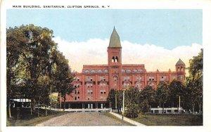 Main Building Clifton Springs, New York Postcard