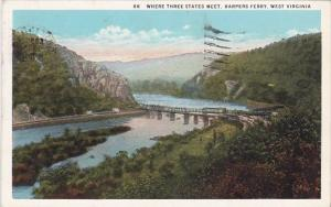 West Virginia Harpers Ferry Where Three States Meet 1930