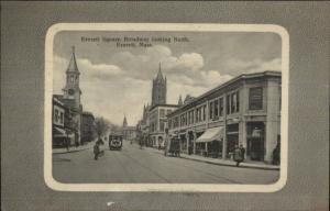 Everett MA Square - Broadway North c1910 Postcard