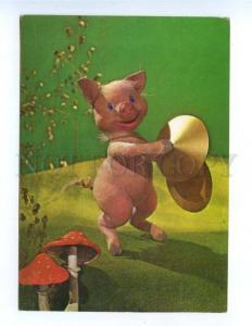 171621 Musical PIG Amanita Three Little Pigs by KUPRIYANOV old