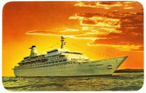 Princess Cruises Ship MS Island Princess Postcard 1970s