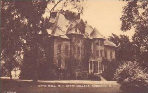 Rhode Island Kingston Davis Hall Rhode Island State College Artvue