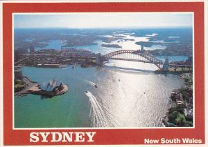 Aerial View Of Sydney Harbour Sydney Australia