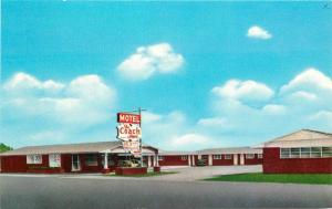 Coach Inn Motel roadside 1972 Watonga Oklahoma Slater postcard 12740