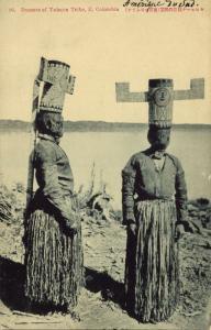 colombia, Native dancers of the Yahuna Yauna Tribe (1910s) Japanese Ed. Postcard