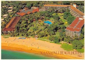 Hawaii Lahaina Kaanapali Beach Hotel, Maui, aerial view, panorama