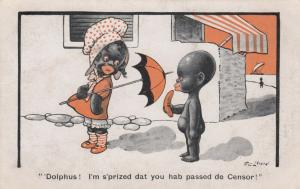F.G. LEWIN: Dolphus! I'm s'prized dat you hab passed de Censor!, 1910-20s