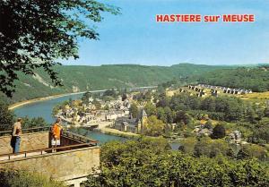 Belgium Hastiere sur Meuse River Bridge Church Panorama