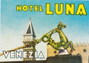 Italy Venezia Hotel Luna Vintage Luggage Label sk1142
