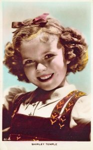 Shirley Temple Smile Colorized real photo postcard 103