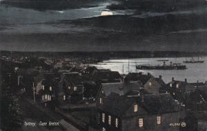 SYDNEY, Cape Breton,Nova Scotia,Canada, 1910s-20s; Night Panorama, Boats