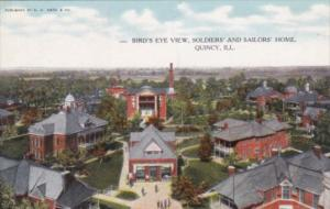 Illinois Quincy BIrds Eye View Soldiers and Sailors Home Curteich