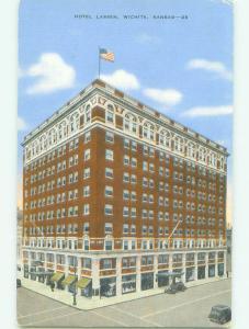 Unused Linen LASSEN HOTEL Wichita Kansas KS hr8245