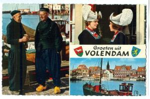Netherlands, Groeten uit Volendam, 1967 used Postcard