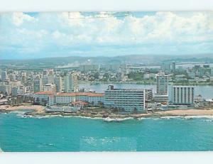Damaged By Tape Residue Pre-1980 HOTEL SCENE San Juan Puerto Rico PR B3769
