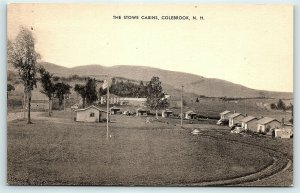 Postcard NH Colebrook The Stowe Cabins Old Cars Vintage Linen R32