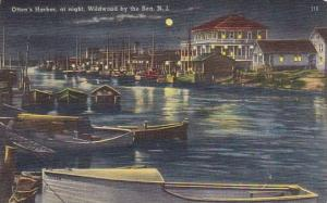 Otten's Harbor At Night Wildwood New Jersey 1949