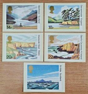Set of 5 PHQ Stamp Postcards Special FDI Back No.52 National Trusts 1981 KJ5