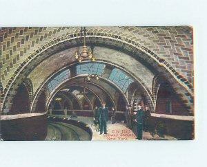 Divided-back SUBWAY STATION AT CITY HALL New York City NY AF2159