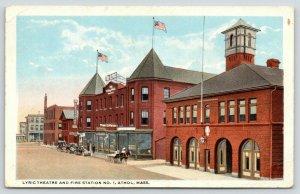Athol Massachusetts~Lyric Theater~Fire Station #1~Ansel T Ward the Plumber~1921