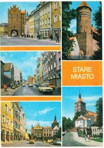 Poland, STARE MIASTO, used Postcard