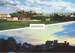 Postal 61888 : Oropesa (Toledo). Vista parcial y puesta de sol
