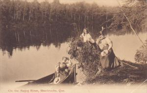 On the Magog River , SHERBROOKE , Quebec , Canada , PU-1907