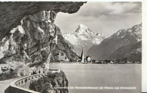 Switzerland Postcard - Axenstrasse Am Vierwaldstattersee Mit Fluelen  Ref TZ7633
