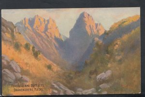 South Africa Postcard - Fortress and Buttress, Drakensberg, Natal  T7127