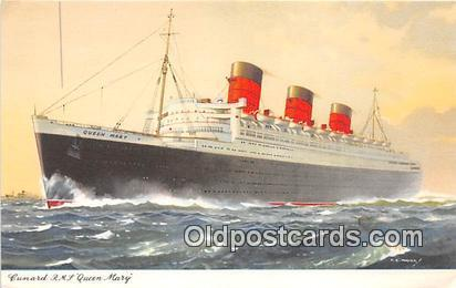 Cunard RMS Queen Mary  Ship Postcard Post Card Postcard Post Card Cunard RMS ...