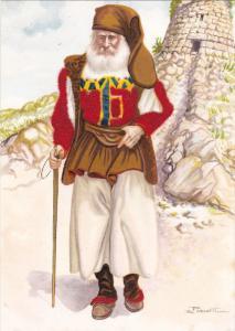 AS; Costume Sardi, Desulo (nuoro), Velvet detail, Sardinia, Italy, 50-70s