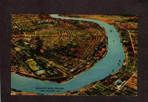 LA Mississippi River Crescent City NEW ORLEANS LOUISIANA Postcard Carte Postale