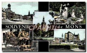Modern Postcard Souvenir de Mons