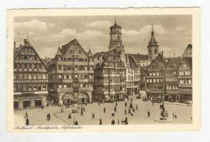 Bird's Eye View, Marktplatz, Stiftskirche, Stuttgart (Baden-Württemberg), Ge...