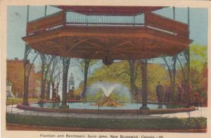 Fountain & Bandstand, St. John, New Brunswick, Canada 1945
