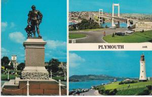 Post Card Devon Plymouth 3 views Harvey Barton