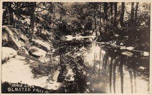 F66/ Olmsted Falls Ohio RPPC Postcard c1910 Arrow Glen Creek Scene