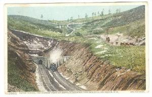 Raton Tunnel, the highest point on Santa Fe Between Trinidad,Colo,and Raton,N...