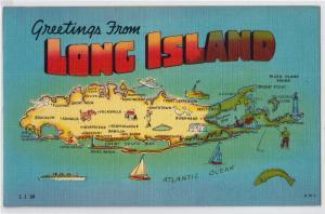 Map, Long Island, LI