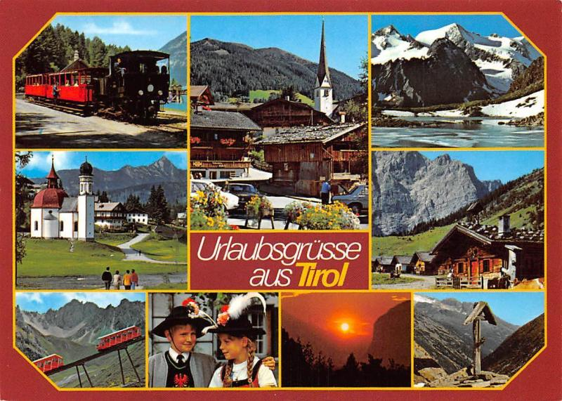 Urlaubsgruesse aus Tirol, Kirche Church Pension Hotel Train Auto Cars Lake