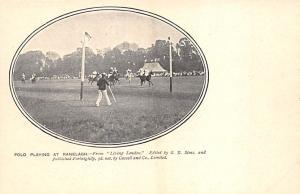 Ranelagh Polo Club Barn Elms, south west London, England. Polo Postcard Unused
