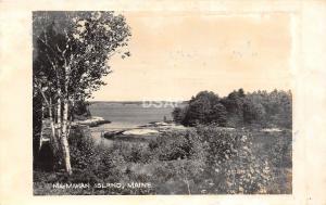 C52/ McMahan Island Maine Me RPPC Real Photo Postcard c1950s Bay View