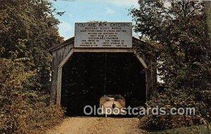 Covered Bridge Vintage Postcard Buzzard Roost Covered Bridge Colbert County, ...