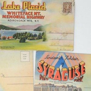 Lot of 5 vintage Upstate New York souvenir postcard views 30-40s Albany Syracuse