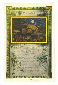 Song postcard  Old Kentucky Home , PU-1950