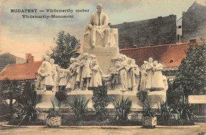 BUDAPEST Vörösmarthy szobor Monument Hungary 1915 Hand-Colored Vintage Postcard