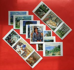 Set of 14 Brand New Art Postcards, The Paul Cezanne Collection
