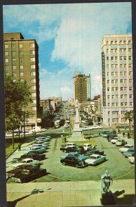 South Carolina ~ Looking down Main Street COLUMBIA older cars Chrome 1950s-1970s