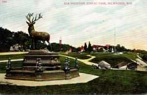 Wisconsin Milwaukee Juneau Park Elk Fountain